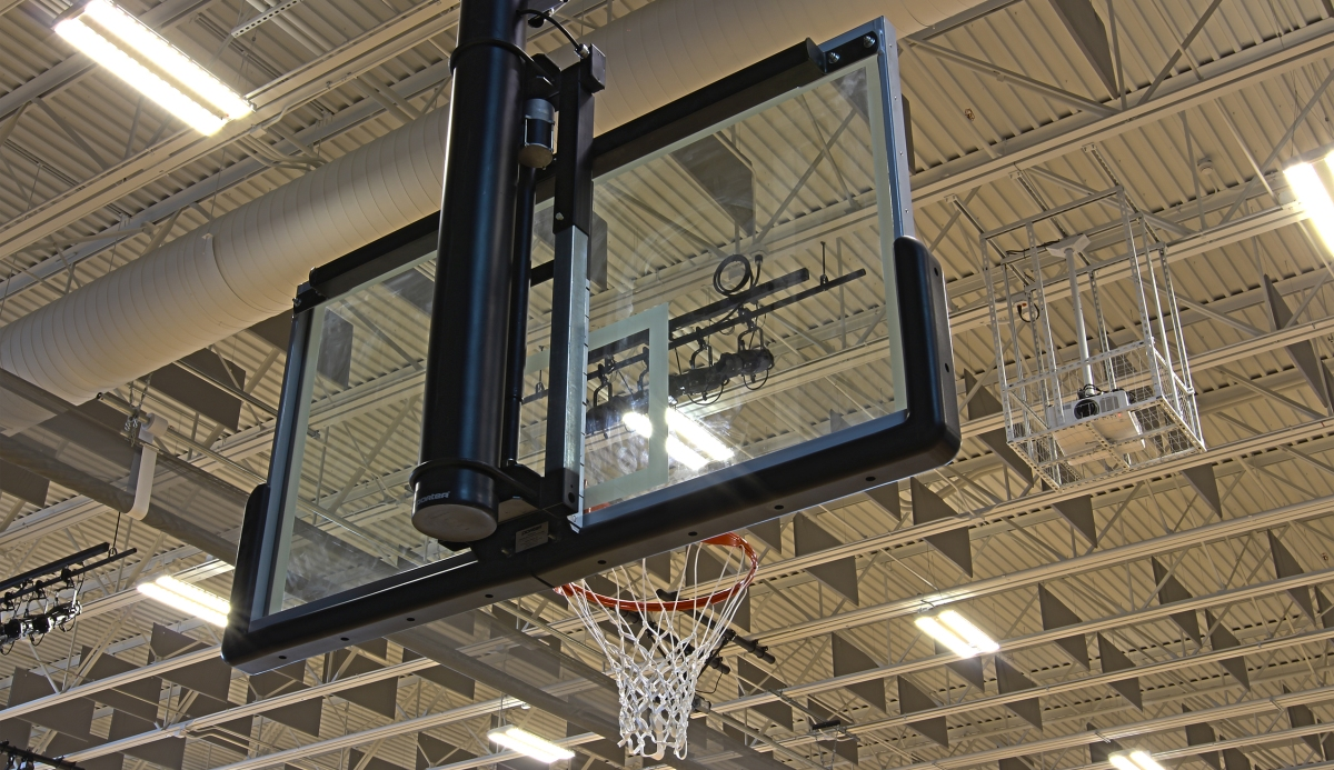 Choosing Ceiling Suspended Hoops for Competition Basketball